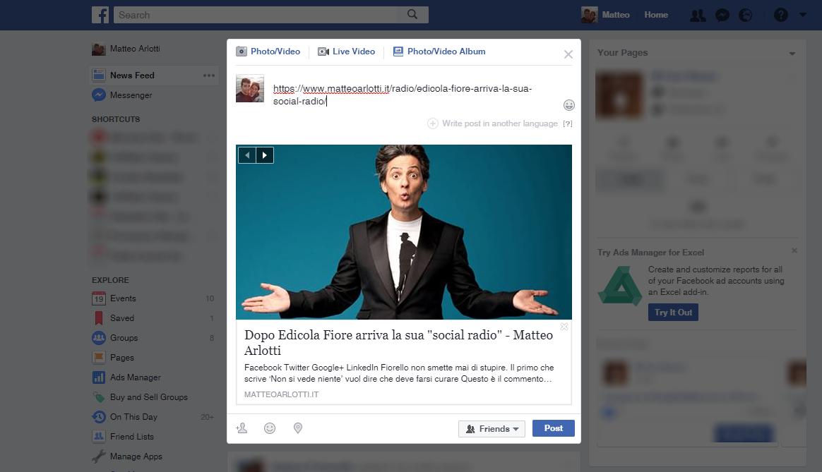 Facebook, Stop Al Cambio Di Anteprima [+ Soluzioni]